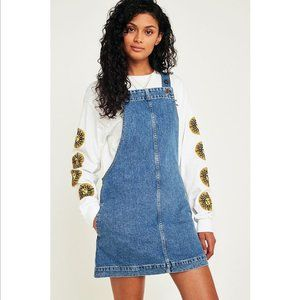 NWT Urban Outfitters Denim Overall Skirt Size XS